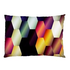 Colorful Hexagon Pattern Pillow Case (two Sides) by Nexatart