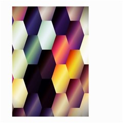 Colorful Hexagon Pattern Small Garden Flag (two Sides) by Nexatart