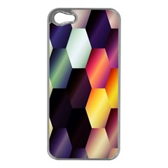 Colorful Hexagon Pattern Apple Iphone 5 Case (silver)