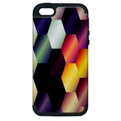 Colorful Hexagon Pattern Apple Iphone 5 Hardshell Case (pc+silicone) by Nexatart