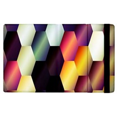 Colorful Hexagon Pattern Apple Ipad 2 Flip Case by Nexatart