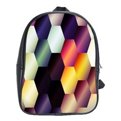 Colorful Hexagon Pattern School Bags (xl)