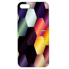 Colorful Hexagon Pattern Apple Iphone 5 Hardshell Case With Stand