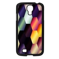 Colorful Hexagon Pattern Samsung Galaxy S4 I9500/ I9505 Case (black) by Nexatart