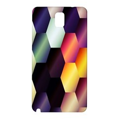 Colorful Hexagon Pattern Samsung Galaxy Note 3 N9005 Hardshell Back Case by Nexatart