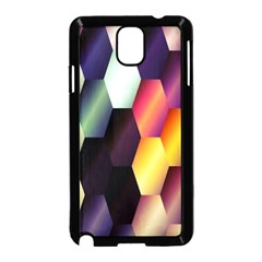 Colorful Hexagon Pattern Samsung Galaxy Note 3 Neo Hardshell Case (black) by Nexatart