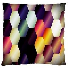 Colorful Hexagon Pattern Large Flano Cushion Case (two Sides) by Nexatart