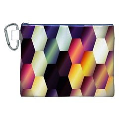 Colorful Hexagon Pattern Canvas Cosmetic Bag (xxl) by Nexatart