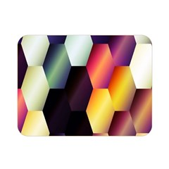 Colorful Hexagon Pattern Double Sided Flano Blanket (mini)  by Nexatart
