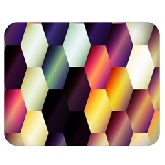 Colorful Hexagon Pattern Double Sided Flano Blanket (medium)  by Nexatart