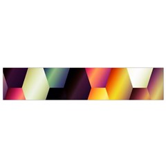 Colorful Hexagon Pattern Flano Scarf (small)