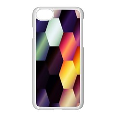 Colorful Hexagon Pattern Apple Iphone 7 Seamless Case (white) by Nexatart