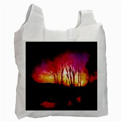 Fall Forest Background Recycle Bag (one Side)