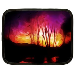 Fall Forest Background Netbook Case (xl)  by Nexatart
