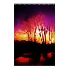 Fall Forest Background Shower Curtain 48  X 72  (small)  by Nexatart