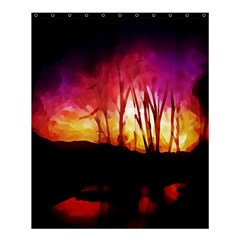 Fall Forest Background Shower Curtain 60  X 72  (medium)