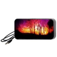 Fall Forest Background Portable Speaker (black) by Nexatart