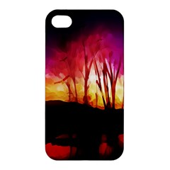 Fall Forest Background Apple Iphone 4/4s Premium Hardshell Case