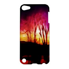 Fall Forest Background Apple Ipod Touch 5 Hardshell Case