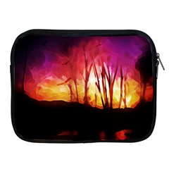Fall Forest Background Apple Ipad 2/3/4 Zipper Cases by Nexatart