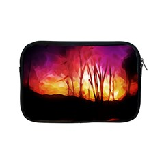 Fall Forest Background Apple Ipad Mini Zipper Cases by Nexatart