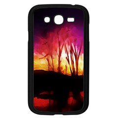Fall Forest Background Samsung Galaxy Grand Duos I9082 Case (black) by Nexatart