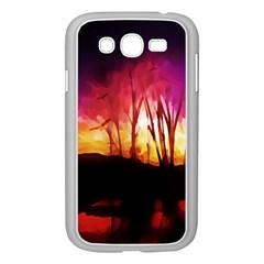 Fall Forest Background Samsung Galaxy Grand Duos I9082 Case (white)