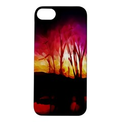 Fall Forest Background Apple Iphone 5s/ Se Hardshell Case
