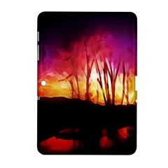 Fall Forest Background Samsung Galaxy Tab 2 (10 1 ) P5100 Hardshell Case  by Nexatart