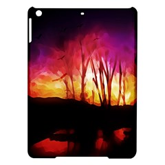 Fall Forest Background Ipad Air Hardshell Cases by Nexatart