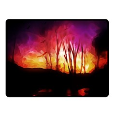 Fall Forest Background Double Sided Fleece Blanket (small)  by Nexatart