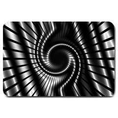 Abstract Background Resembling To Metal Grid Large Doormat  by Nexatart