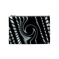 Abstract Background Resembling To Metal Grid Cosmetic Bag (medium)
