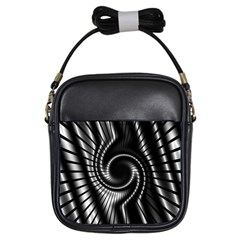 Abstract Background Resembling To Metal Grid Girls Sling Bags by Nexatart