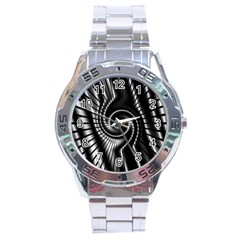 Abstract Background Resembling To Metal Grid Stainless Steel Analogue Watch by Nexatart