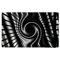 Abstract Background Resembling To Metal Grid Apple Ipad 2 Flip Case by Nexatart