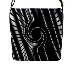 Abstract Background Resembling To Metal Grid Flap Messenger Bag (l)