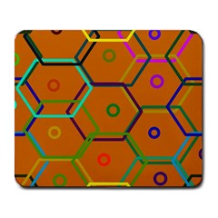 Color Bee Hive Color Bee Hive Pattern Large Mousepads by Nexatart