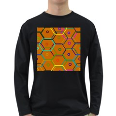 Color Bee Hive Color Bee Hive Pattern Long Sleeve Dark T Shirts