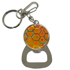 Color Bee Hive Color Bee Hive Pattern Button Necklaces by Nexatart