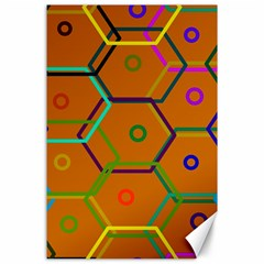 Color Bee Hive Color Bee Hive Pattern Canvas 24  X 36  by Nexatart