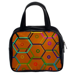 Color Bee Hive Color Bee Hive Pattern Classic Handbags (2 Sides)