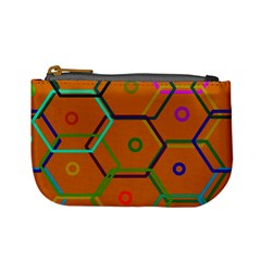 Color Bee Hive Color Bee Hive Pattern Mini Coin Purses