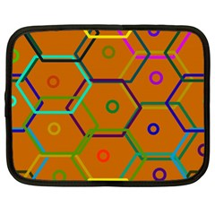 Color Bee Hive Color Bee Hive Pattern Netbook Case (xl)  by Nexatart