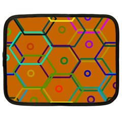 Color Bee Hive Color Bee Hive Pattern Netbook Case (xxl)