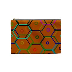 Color Bee Hive Color Bee Hive Pattern Cosmetic Bag (medium)  by Nexatart