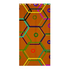 Color Bee Hive Color Bee Hive Pattern Shower Curtain 36  X 72  (stall)  by Nexatart