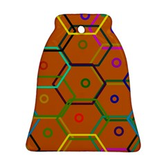 Color Bee Hive Color Bee Hive Pattern Ornament (bell) by Nexatart