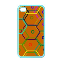 Color Bee Hive Color Bee Hive Pattern Apple Iphone 4 Case (color) by Nexatart