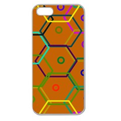 Color Bee Hive Color Bee Hive Pattern Apple Seamless Iphone 5 Case (clear)